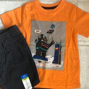 NWOT Toddler Boy Short Sleeve Shirt and Pants Set
